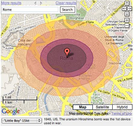 rome après une explosion atomique