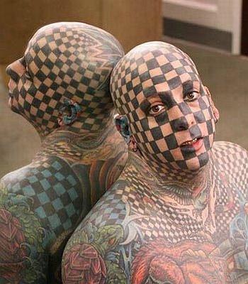 CheckerboardTattooFace