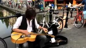 musicien de rue amsterdam